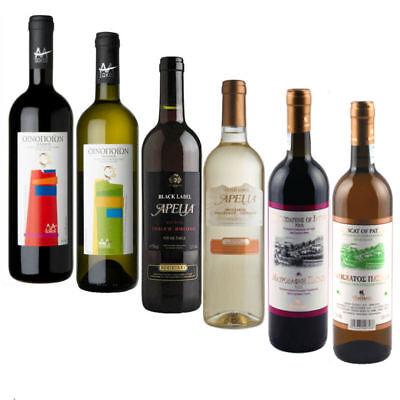 Griechischer Rot- und Weißwein Set 6x 750ml Markenware trocken, halbsüß und süß