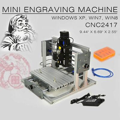 Cnc 2417 Mini Diy Mill Router Kit Metal Engraver Pcb Milling Machine Usb Desktop