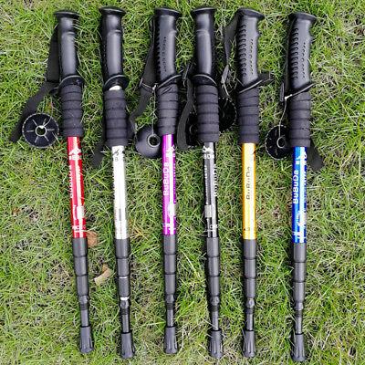USA Anti Shock Walking Sticks Telescopic Trekking Outdoor Hiking Poles Canes ()