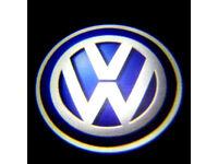 2 x VW 3D COB LED DOOR LOGO COURTESY LIGHT LASER GHOST PROJECTOR SHADOW PUDDLE LAMPS VOLKSWAGEN