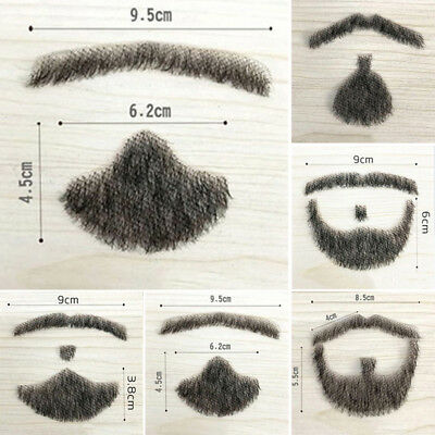 Fake Beard Men's Mustache Handmade Makeup Human Hair Fancial Hair Dress Hot Sale](Moustache Sale)