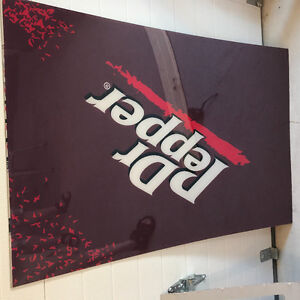 Dr Pepper and Pepsi signs