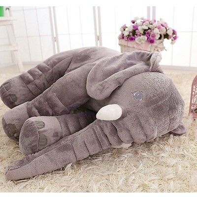Big  Elephant Pillow Cushion Stuffed Doll Toy Baby Kids Soft Plush Lumbar Nose