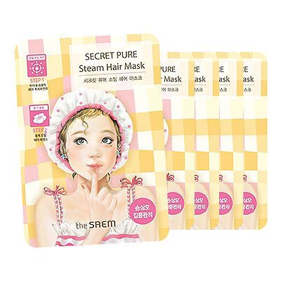 [THE SAEM] Secret Pure Steam Hair Mask 5 pcs (Five-time) / Korea cosmetic