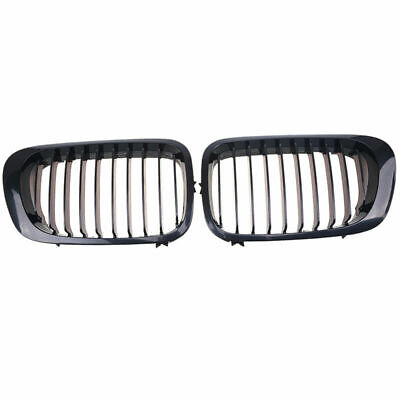 Front Kidney Grille Grill Gloss Black For BMW 3-Series E46 Coupe Cabrio 2000-03