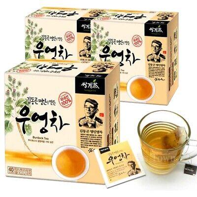 Korean Dong-Gon Kim Tea Master made Burdock Tea (40T x 3 Box) 120 Tea bag