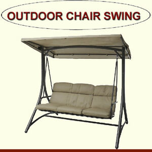 OUTDOOR CHAIR SWING - BROWN IN COLOR
