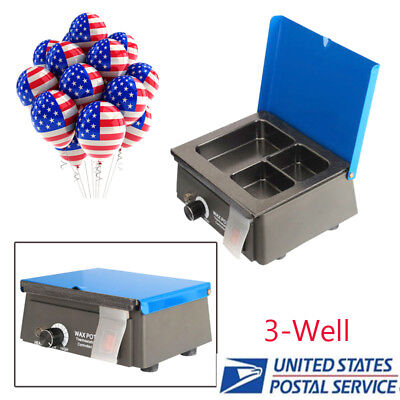 Usa Dental 3-well Pot Lab Melting Pot Dipping Analog Wax Heater Melter Pot 300w