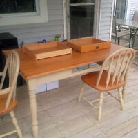 dining/kitchen table with 4 chairs and 2 arm chairs
