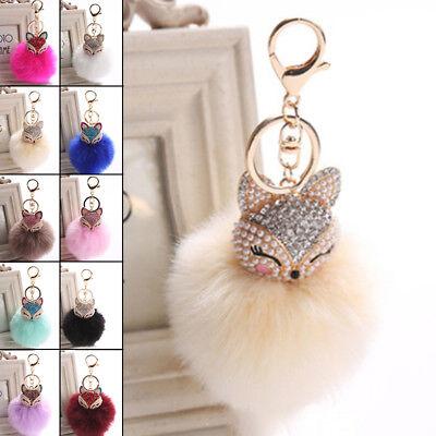 Fox Charm (Crystal Rhinestone Keyring Keychain Charm Pendant Fox Car Purse Bag Key)