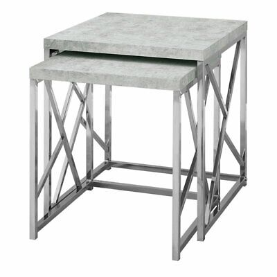 Pemberly Row 2 Piece Nesting Table Set in Gray Cement