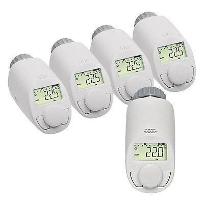 Eqiva 5er-Set Model N Elektronik-Heizkörper-Thermostat mit Boost-Funktion, bis z