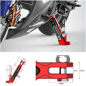 Motorcycle Adjustable Side Tripod Holder Alloy Fashion Design Red+Black Amazing