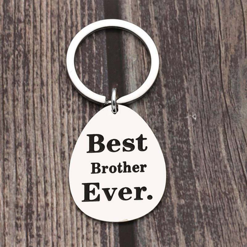 """/""""Best Brother//sister Ever/"""" Jewelry Lettering Pendant Key Chain For Family Gift S"""