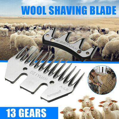 Stainless Steel Straight Blade Head for Livestock Sheep Goat Clipper 13 Teeth