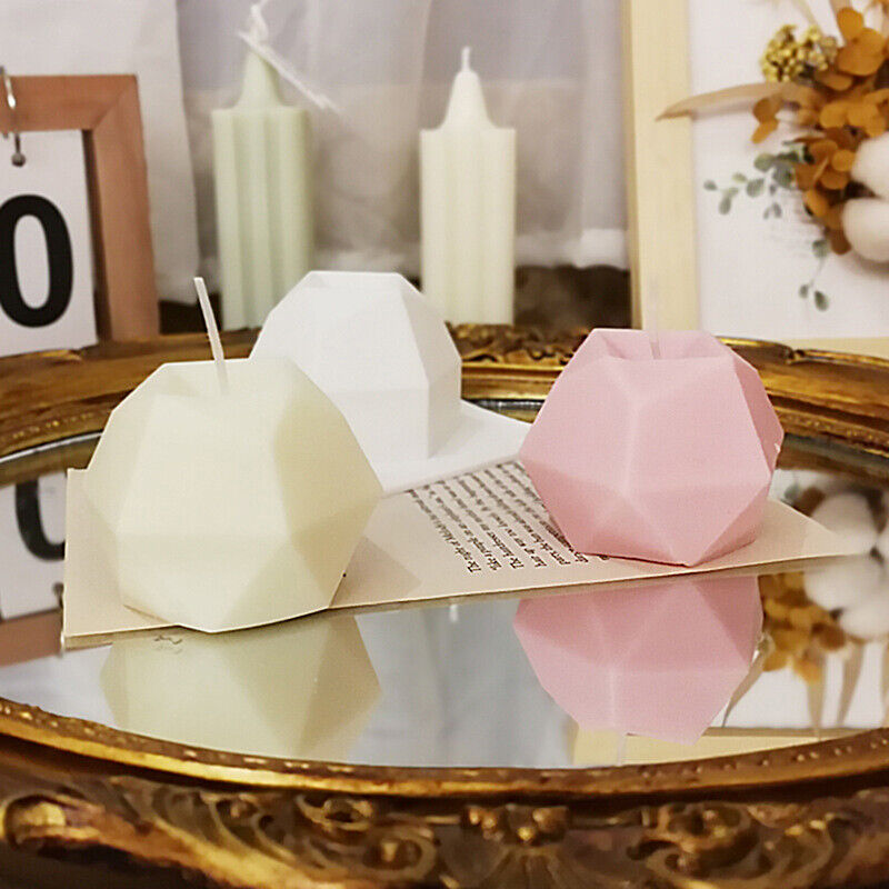 3D Irregular Silicone Candle Mould Rhombohedral ball mold Resin Mong