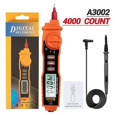 A3002 Digital Multimeter Pen Type 4000 Counts With Non Contact Acdc Tester Tool
