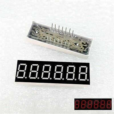 1pcs 0.36inch 7 Segment 6 Digit Common Cathode 0.36 Red Led Digital Display New