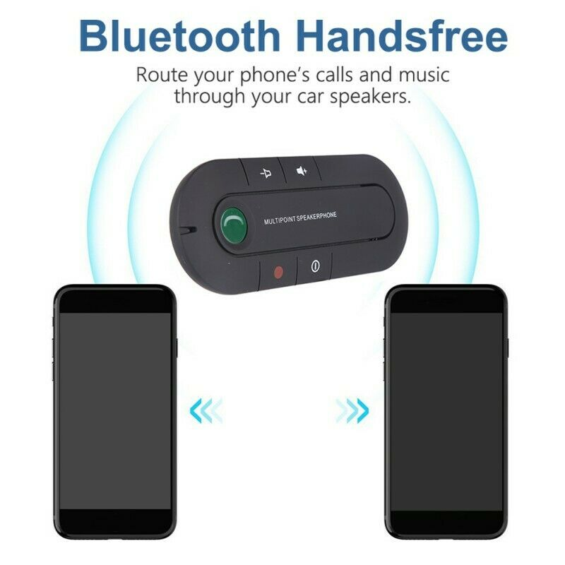 Wireless Bluetooth 4.1 Hands Free Car Kit Speakerphone Speaker Phone Visor Clip