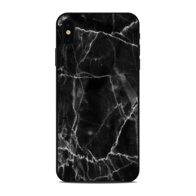 iPhone XS Max Skin - Black Marble - Sticker Decal