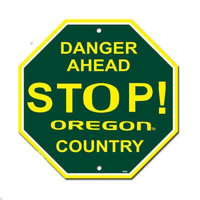 New NCAA Oregon Ducks STOP SIGN - Home Office Bar Decor