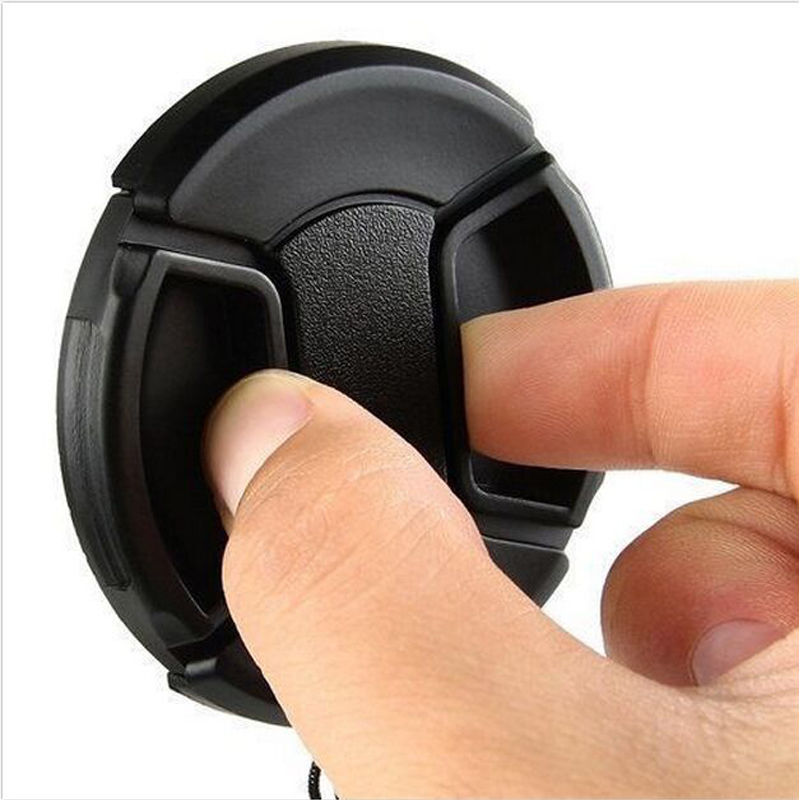 58mm Front Lens Cap Center Snap on Lens Caps Replacement For DSLR Camera Plastic