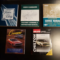 69 Camaro Service & Assembly Manuals - ONLY 2 LEFT