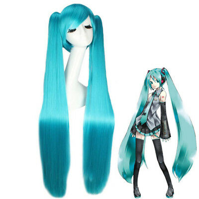 Turquoise Blue Long Hair for VOCALOID Hatsune Miku Cosplay Costume Wig 40 inch - Costumes For Blue Hair