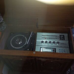 antique radio record player