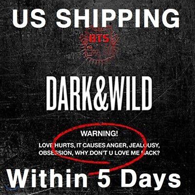 US SHIPPING BTS-[Dark&Wild]1st Album CD+PhotoBook+PhotoCard+Gift DARK and WILD