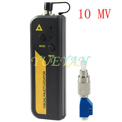 10mw Red Laser Light Fiber Optic Cable Tester Lcscfcst Connector Cable Test