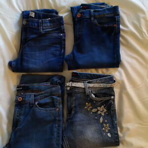 LOT OF GIRLS SIZE 14 JEANS; JORDACHE AND LEI