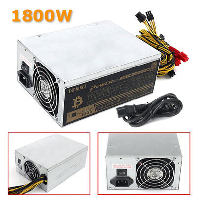 1800W Mining Machine Power Supply For Eth Bitcoin Miner Antminer S7 S9 A4 L3+