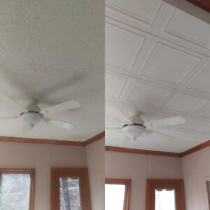 Got stained or old popcorn ceilings?  1-888-717-8453