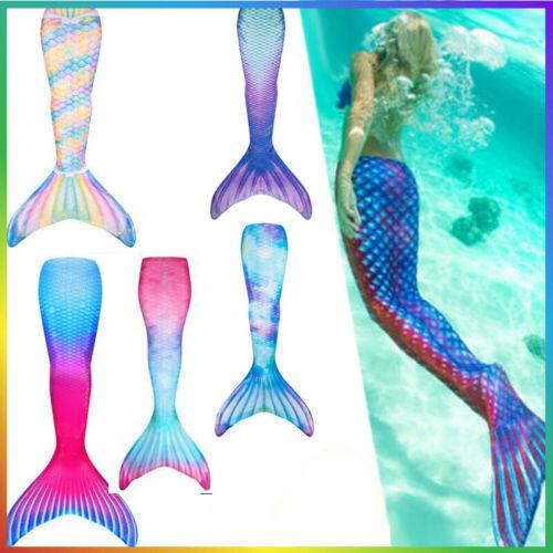 Mädchen Meerjungfrau Mermaid Kostüm Schwanzflosse Monofin Bademode Schwimmanzug