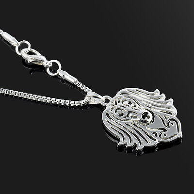 Long Haired Dachshund Necklace Silver ANIMAL RESCUE DONATION ()