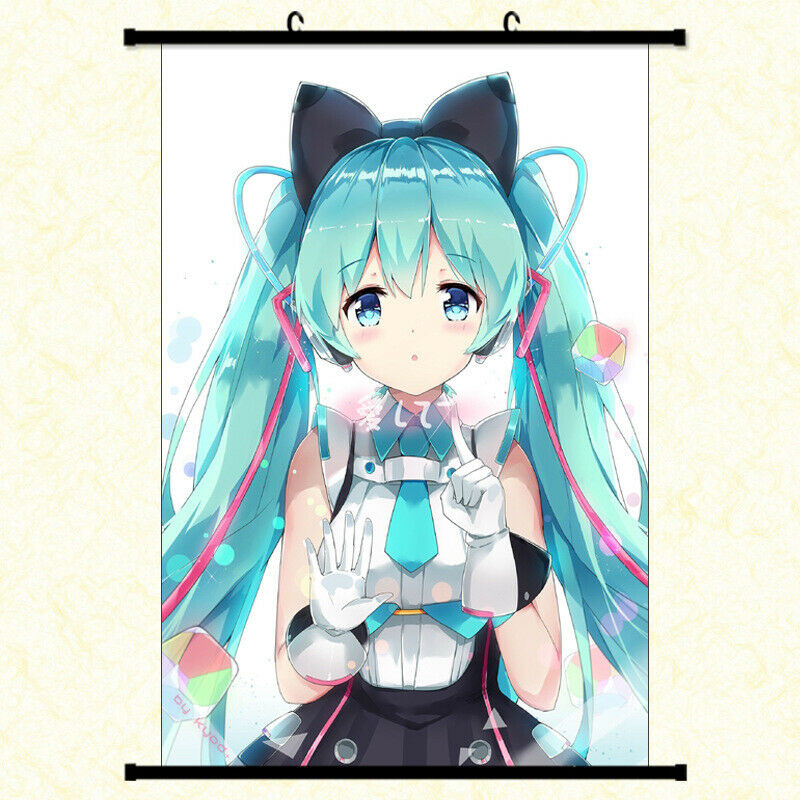 Hatsune Miku Anime Love Framed Poster with hooker 24x36 INCH