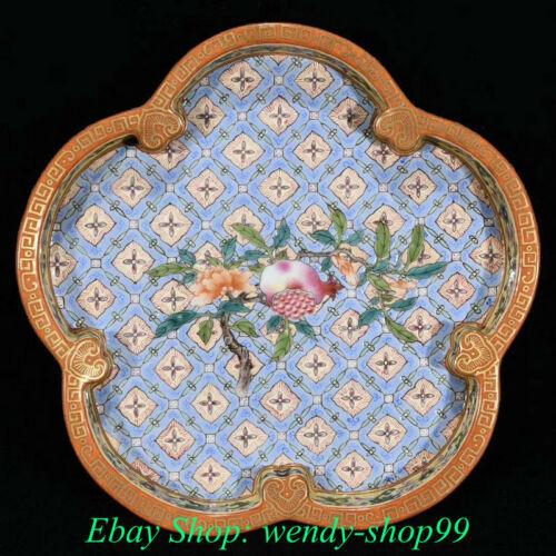 """7"""" Old China Wucai Porcelain Dynasty Palace Pomegranate Flower brush washer"""