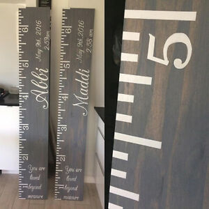Wooden Rustic Growth Charts!