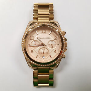 Ladies Michael Kors Blair Rose Gold Tone Chrono Watch