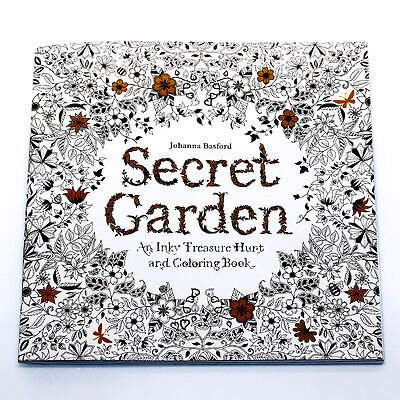 Secret Garden An Inky Treasure Hunt and Coloring Book by Johanna Basford &Pencil on Rummage