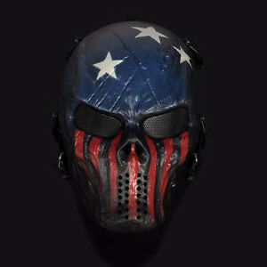 Masque Capitain America Tactical Military Paintball Aircraft NEW