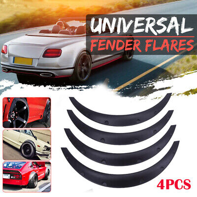 "4Pcs 3.5""78cm Universal Flexible Car Body Fenders Flares Wheel Arches Black"