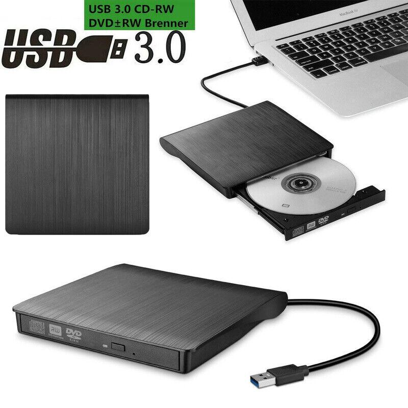 External DVD CD RW Disc Burner Combo Drive Reader Laptop Burning Optical Drive