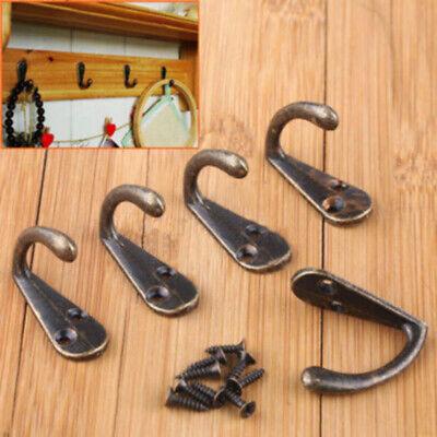 10X/SET Antique Brass Wall Mounted Hook Key Holder Letter Rack Hanger Decoration