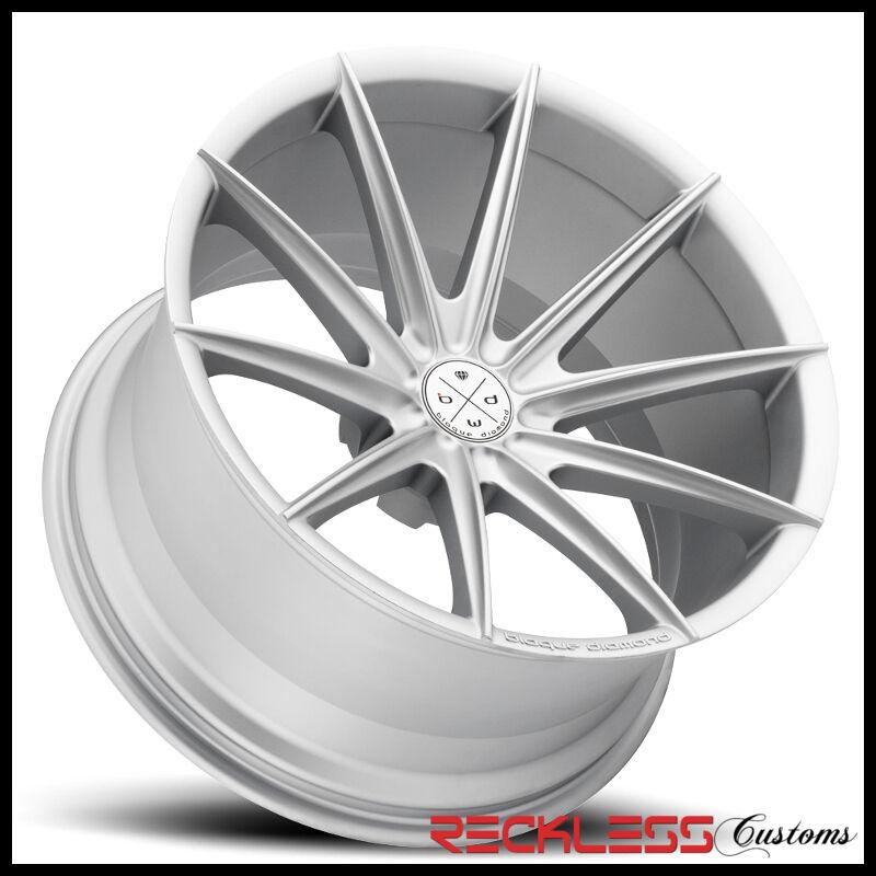 "22"" Blaque Diamond Bd11 Deep Concave Silver Wheels Rims Fits Hyundai Santa Fe"