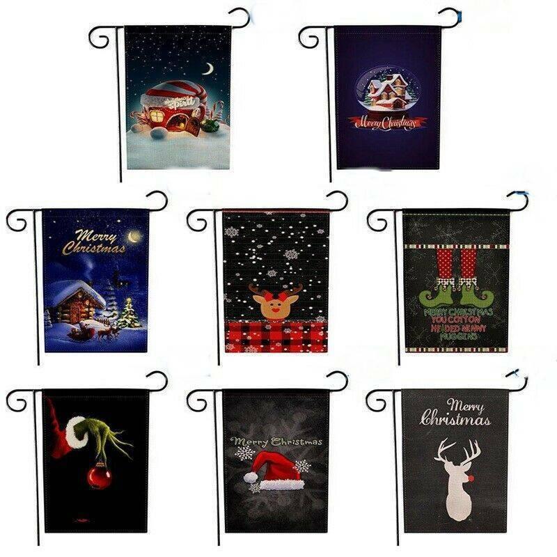 19''x13'' Double Side Christmas Winter Snow Flag Xams Outdoo