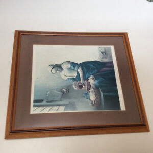 """The Milkmaid"" framed print"