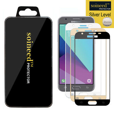 SOINEED Samsung Galaxy J3 2017 Full Cover Tempered Glass Screen Protector Saver