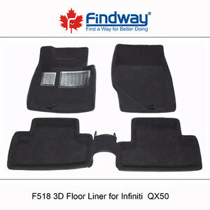 All weather 3D Car Floor Liners for 2014-2015 Infiniti QX50